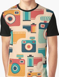 Film Rolls and Cameras Graphic T-Shirt