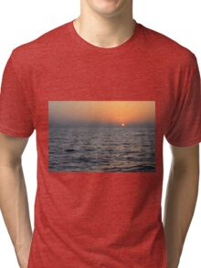Sunset at the sea. Tri-blend T-Shirt