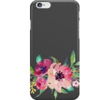Watercolor Wild Flower Pink Bouquet iPhone Case/Skin