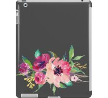 Watercolor Wild Flower Pink Bouquet iPad Case/Skin