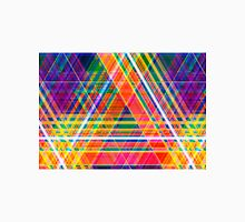 Abstract colorful background created using horizontal and diagonal stripes. Neon colors. Illustration. Can be used for posters, flyers, or webdesign. Unisex T-Shirt