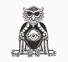3RD EYE OWL white Unisex T-Shirt