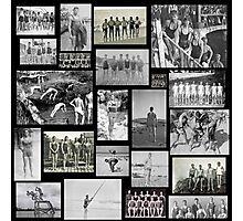 Vintage Swimmers  Photographic Print
