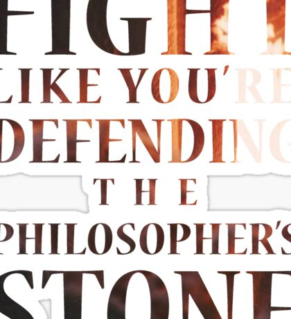 Like You're Defending the Philosopher's Stone. Sticker