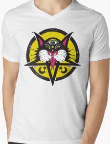 Black Moon Cat Mens V-Neck T-Shirt