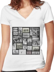 Vintage Swimmers  Women's Fitted V-Neck T-Shirt