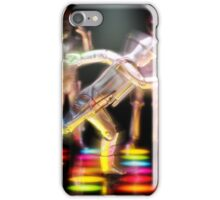 Doing the Running (Cyber) Man iPhone Case/Skin