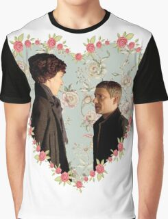 Johnlock Hearted Graphic T-Shirt