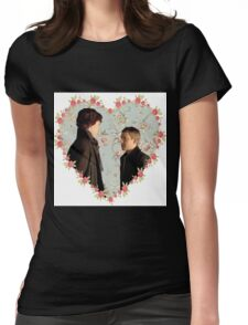 Johnlock Hearted Womens Fitted T-Shirt