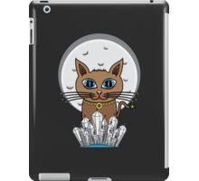 Cosmic Moon Cat - Blue iPad Case/Skin