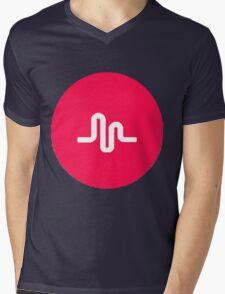 musically logo Mens V-Neck T-Shirt