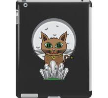 Cosmic Moon Cat - Green iPad Case/Skin