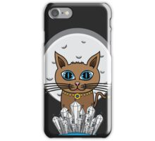Cosmic Moon Cat - Blue iPhone Case/Skin