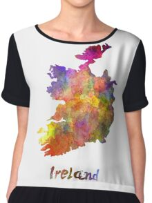 Ireland in watercolor Chiffon Top