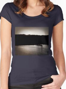 Sunset at Inn of The Mountain Gods Women's Fitted Scoop T-Shirt