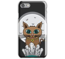 Cosmic Moon Cat - Turquoise iPhone Case/Skin