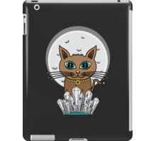 Cosmic Moon Cat - Turquoise iPad Case/Skin