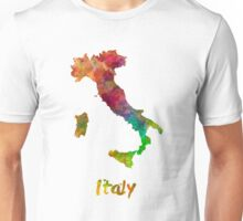 Italy in watercolor Unisex T-Shirt