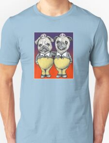 Tweedledum and Tweedledee Pugs Unisex T-Shirt