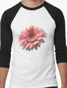Pink Flower Men's Baseball ¾ T-Shirt