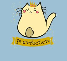 cat - purrfection Womens Fitted T-Shirt