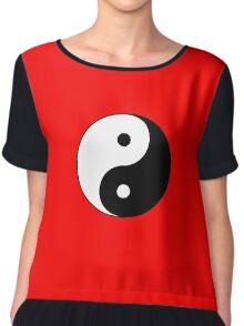 Yin Yang Symbol Chiffon Top
