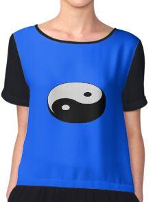 Yin Yang Symbol 3 Chiffon Top