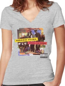 Grand Puba - Reel to Reel Women's Fitted V-Neck T-Shirt