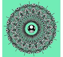 '1 UP' Mushroom Mandala Photographic Print