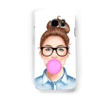 """""""Geek Girl """" brunette version Samsung Galaxy Case/Skin"""