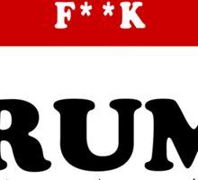 Hell No anti Trump Sticker/T Shirt Sticker