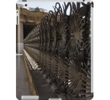 Shadow Play - a Whimsical Wrought Iron Fence by Antoni Gaudi - Park Guell, Barcelona iPad Case/Skin