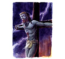 Zombie Jesus Christ Photographic Print