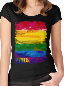 abstract pride Women's Fitted Scoop T-Shirt