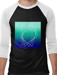 Geometric blue Men's Baseball ¾ T-Shirt