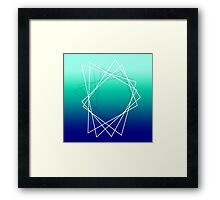 Geometric blue Framed Print