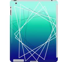 Geometric blue iPad Case/Skin