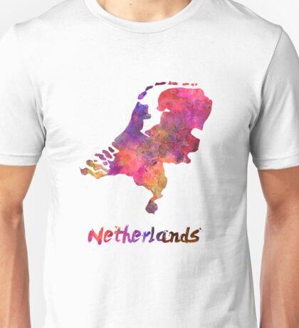 Netherlands in watercolor Unisex T-Shirt
