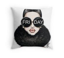 Winter FRIDAY pillow Throw Pillow