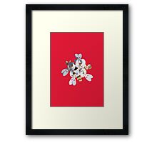 White Wildflower Framed Print