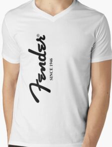 FENDER GUITARS Mens V-Neck T-Shirt