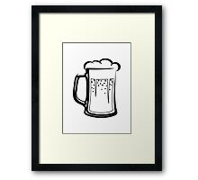 drinking beer booze handle Framed Print