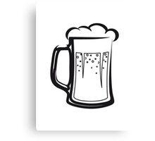 drinking beer booze handle Canvas Print