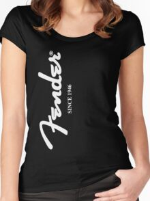 FENDER T SHIRT Women's Fitted Scoop T-Shirt