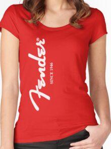 FENDER T SHIRT Women's Fitted Scoop T-Shirt