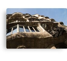 Freeform Rhythms in Stone, Iron and Glass - Antoni Gaudi's La Pedrera or Casa Mila in Barcelona, Spain Canvas Print