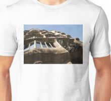 Freeform Rhythms in Stone, Iron and Glass - Antoni Gaudi's La Pedrera or Casa Mila in Barcelona, Spain Unisex T-Shirt