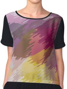 Abstract colorful bright background with brush strokes texture Chiffon Top