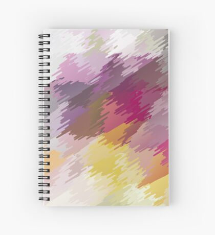 Abstract colorful bright background with brush strokes texture Spiral Notebook