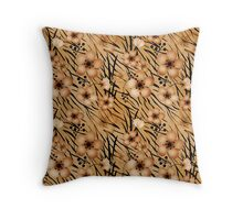 Seamless floral patterns backgrounds .Floral backgrounds, tiger background Throw Pillow